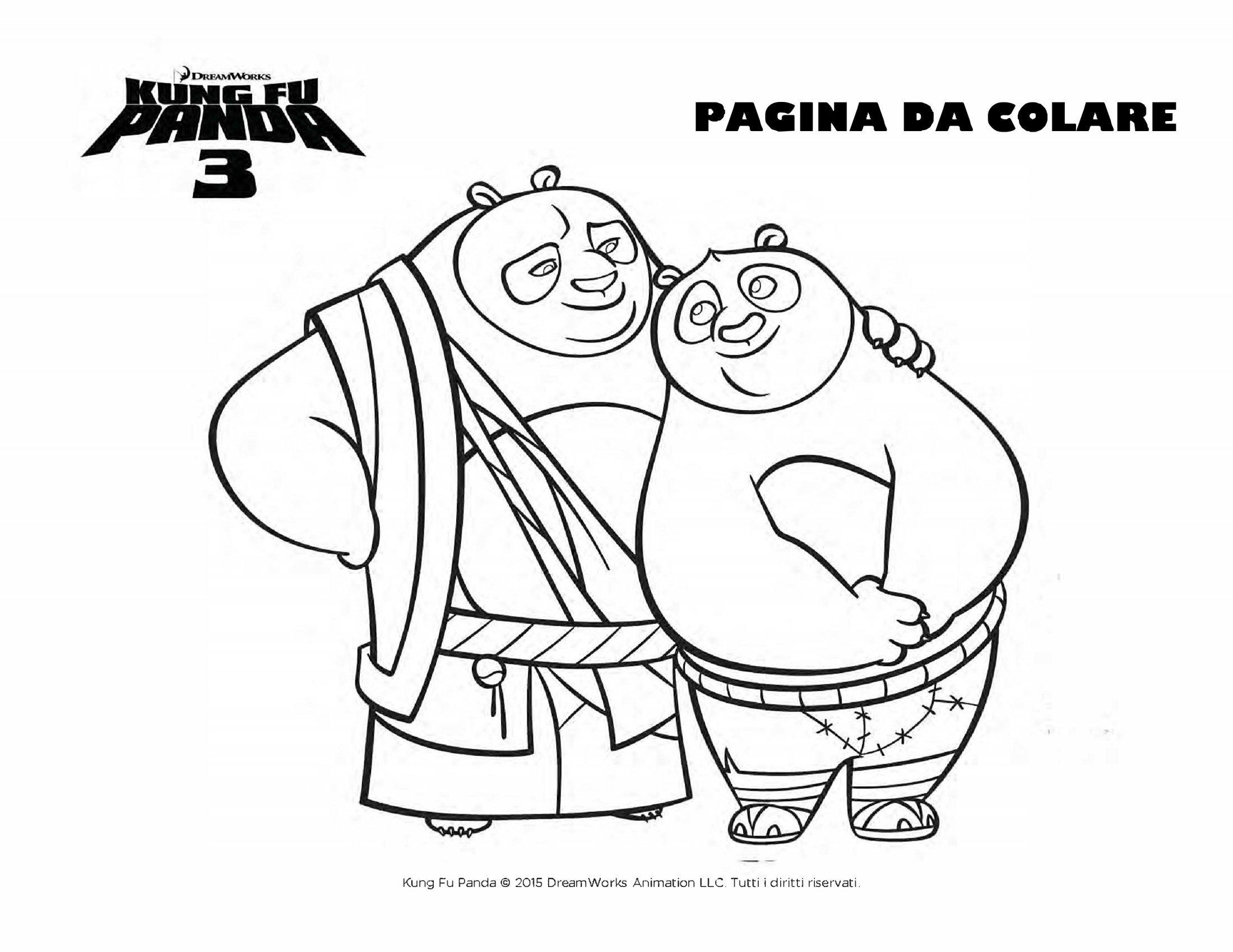 Disegni Da Colorare Kung Fu Panda Sogni D Oro