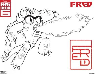 Big-hero-6-coloring Page Fred Aja