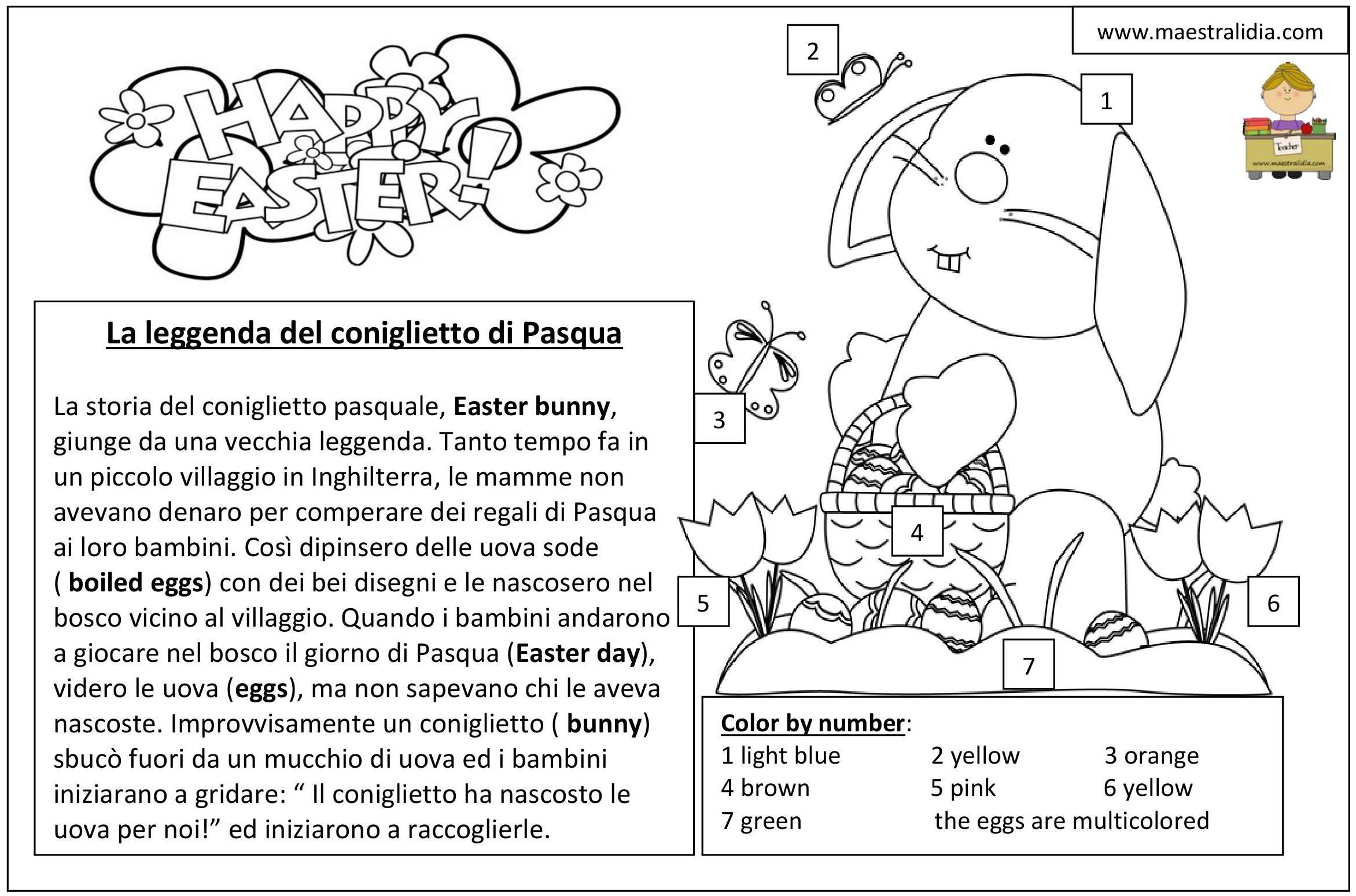 La leggenda del coniglietto di pasqua sogni d 39 oro - Lettere stampabili del coniglietto di pasqua ...