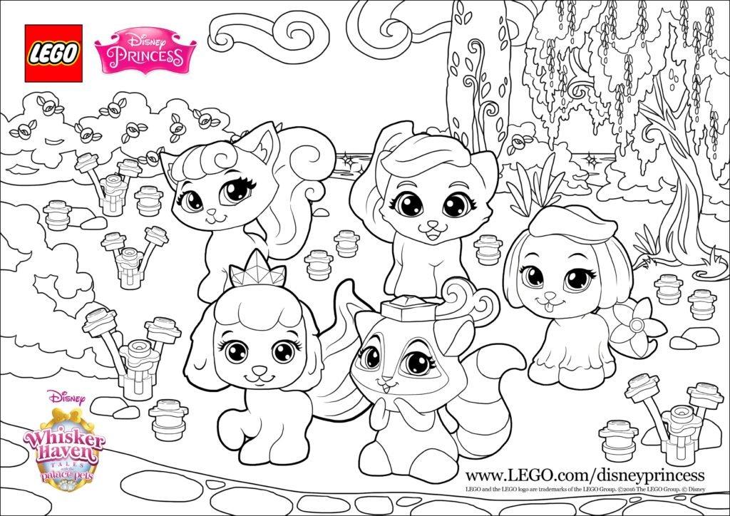 Disegni da colorare il regno dei cuccioli con personaggi