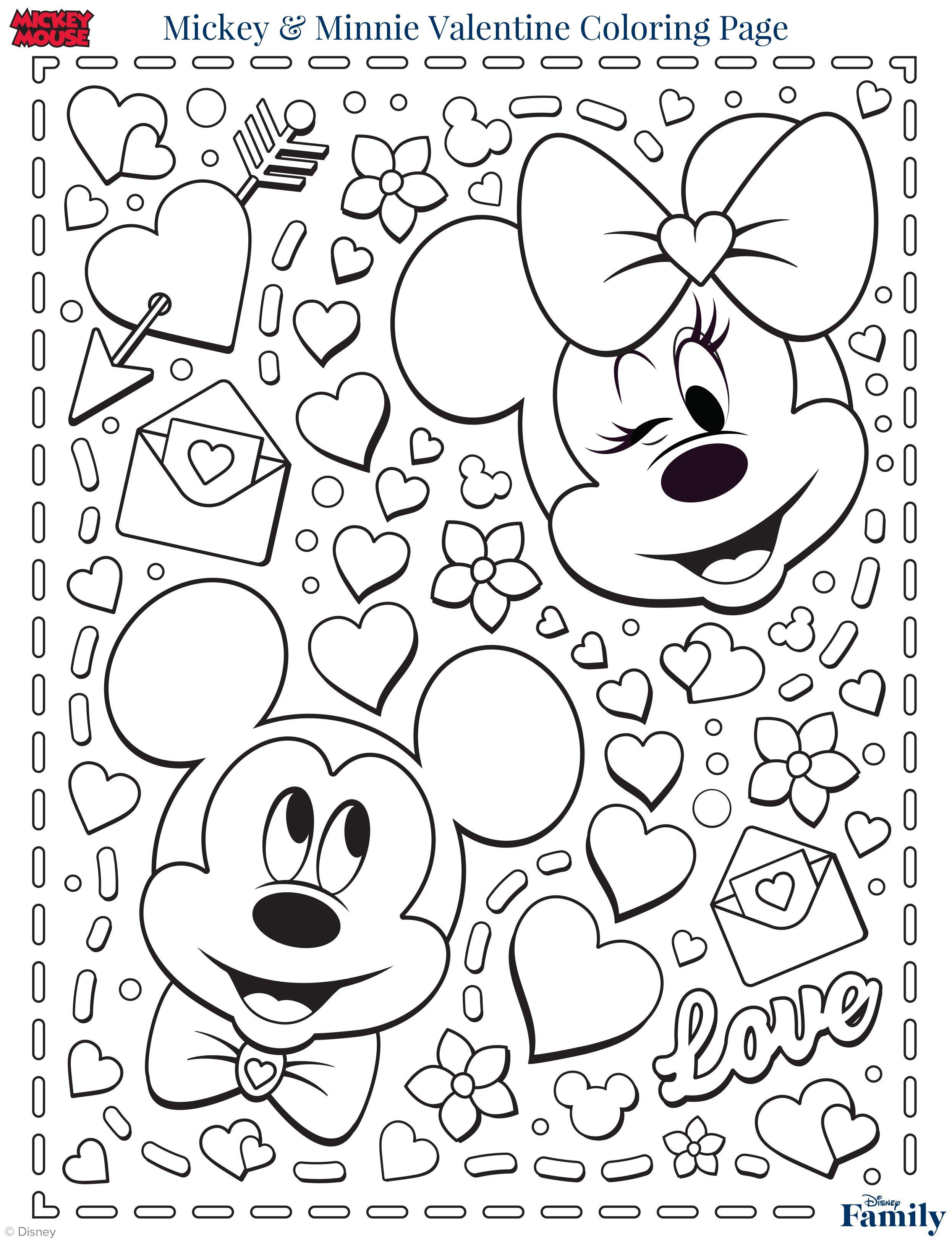 Disegni Da Colorare Topolino E Minnie San Valentino