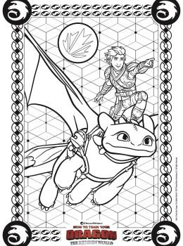 Dragon Trainer 3 Il Mondo Nascosto Disegni Da Colorare